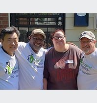 Crockett Facilities Services Volunteers Working Hard with Rebuilding Together DC/Alexandria